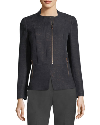 Toryn Zip-Front Nocturnal Novelty Jacket