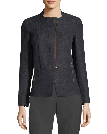 Lafayette 148 New York Toryn Zip-Front Nocturnal Novelty