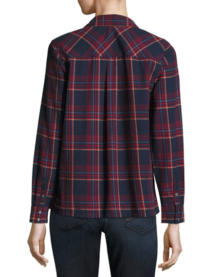 Antolina Plaid Button Front Shirt