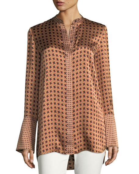 Lafayette 148 New York Desra Bell-Sleeve Highgate Herringbone
