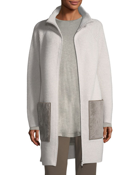 Lafayette 148 New York Oversized Knit Cardigan Coat