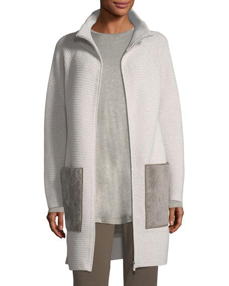 Lafayette 148 New York Oversized Knit Cardigan Coat