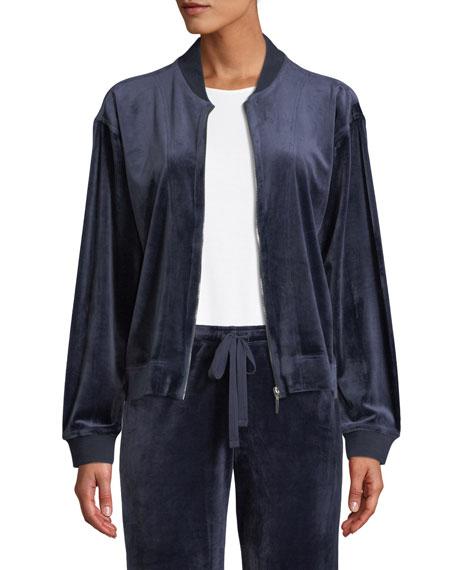 Velour Zip-Front Jacket