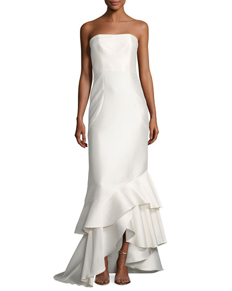 Sachin & Babi Anya Strapless Tiered Mermaid Gown