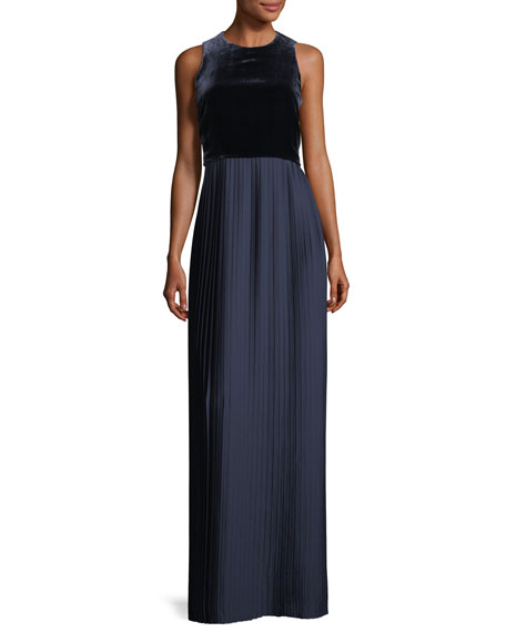 Lafayette 148 New York Marsiela Sleeveless Velvet Pleated