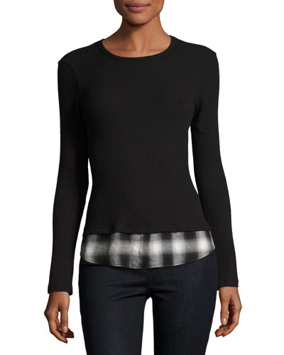 Tour de Force Long-Sleeve Top, Black