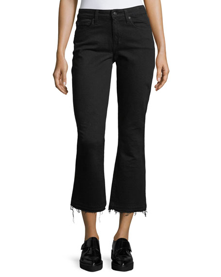 Derek Lam 10 Crosby Gia Mid-Rise Cropped Flared