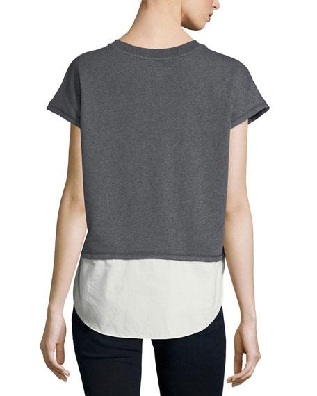 2-in-1 Crossover Crewneck Sweatshirt