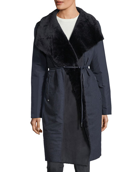 Lafayette 148 New York Farrah Alpine Outerwear Reversible