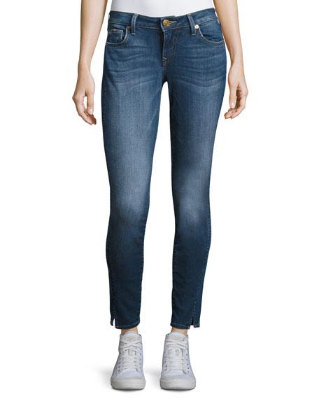 True Religion Jennie Twisted Seam Mid-Rise Skinny Jeans,