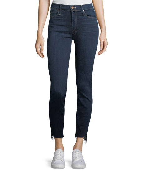 Stunner Zip-Ankle Step Fray Skinny Jeans
