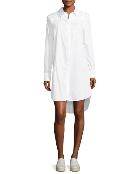 Milly Long-Sleeve Italian Cotton Shirtdress