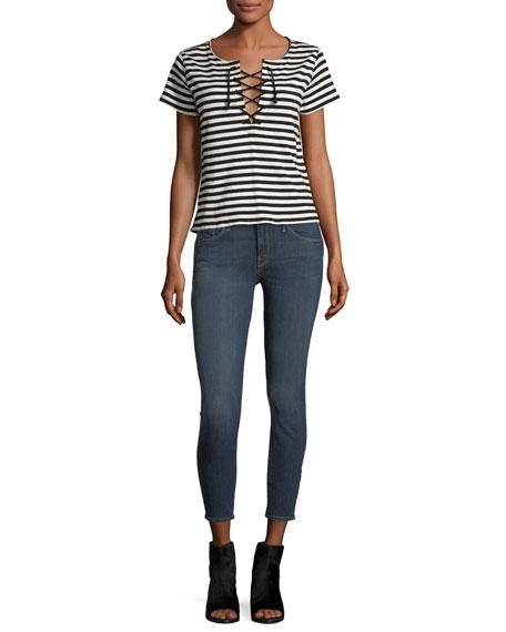 Looker Crop Mid-Rise Skinny Jeans