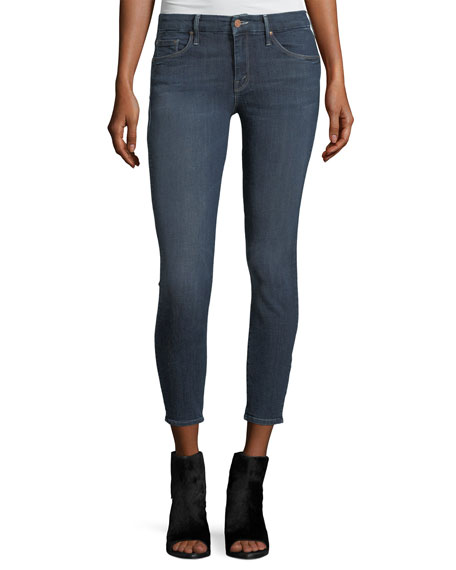 Mother Denim Looker Crop Mid-Rise Skinny Jeans