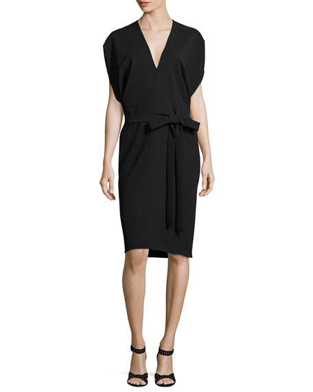 Milly Aimee Dolman Sleeve Bias Sheath Dress