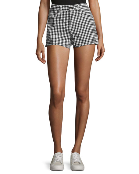rag & bone/JEAN Justine High-Rise Gingham Shorts