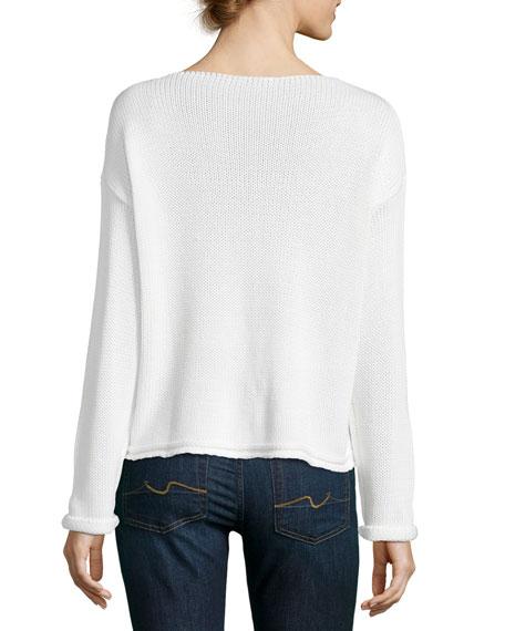 Kalani Long-Sleeve Star-Knit Sweater