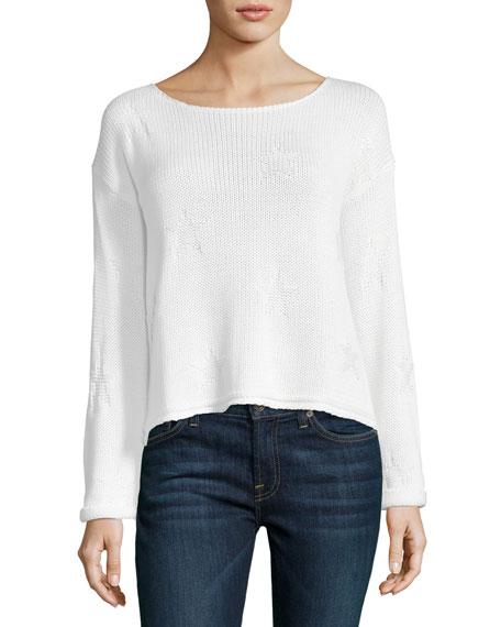 Rails Kalani Long-Sleeve Star-Knit Sweater