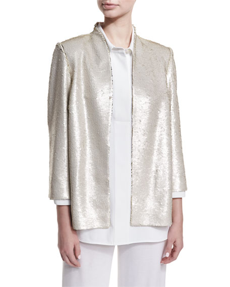 Matte Sequin Jacket, Plus Size