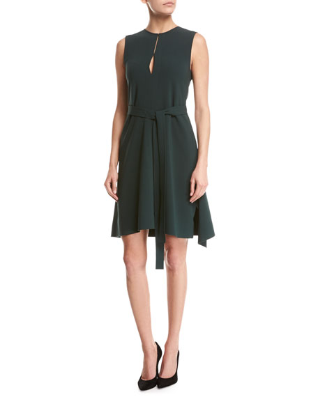 Theory Desza Admiral Crepe Dress, Green