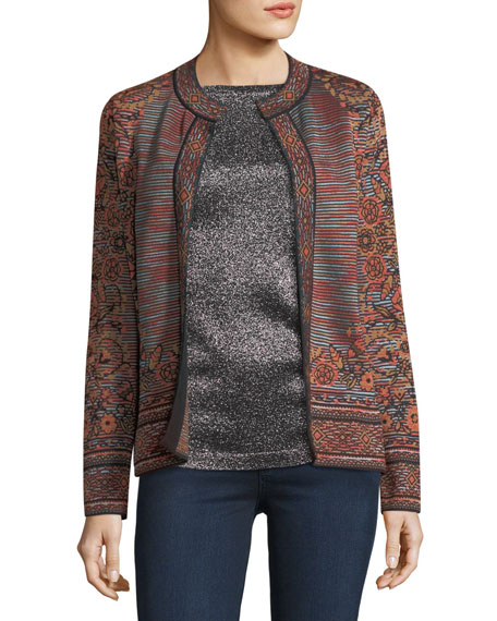M Missoni Space-Dyed Floral Jacquard Cardigan