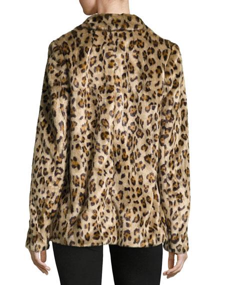 Theory Clairene Leopard Faux Fur Coat Neiman Marcus