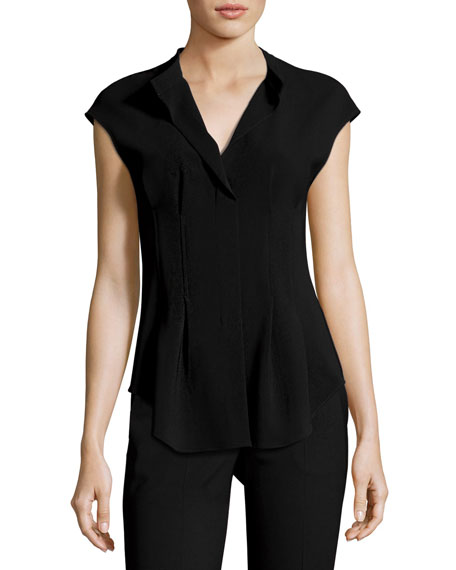 Narthus Pleated Admiral Crepe Top