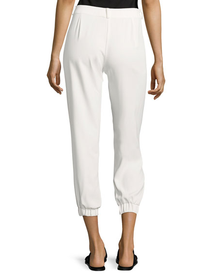 Elliott Mid-Rise Cropped Pants, White