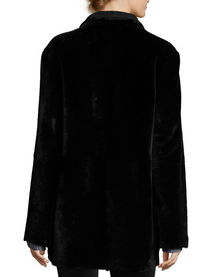 Clairene Coat Light Merino Coat, Black