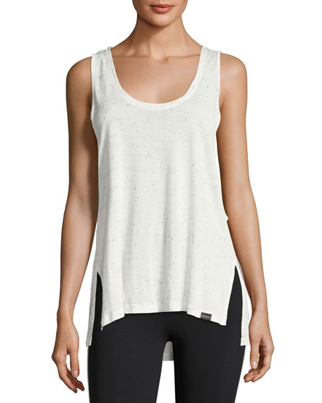 Koral Activewear Line Oversized Jersey Tank Top, White