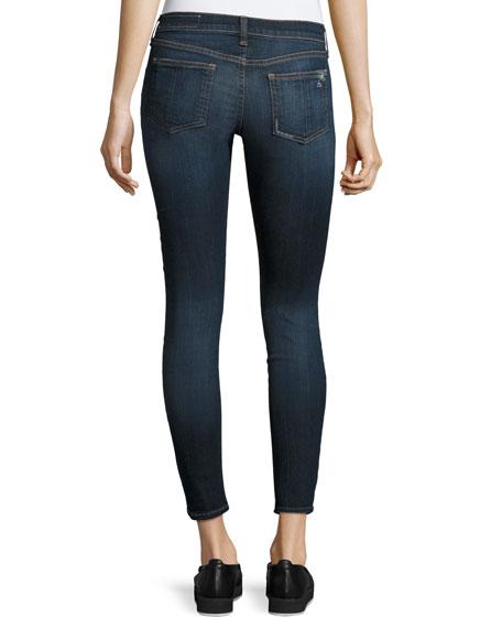 Capri Denim Jeans W/ Rips