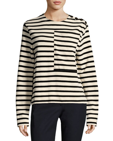 Joseph Breton Long-Sleeve Striped Cotton T-Shirt