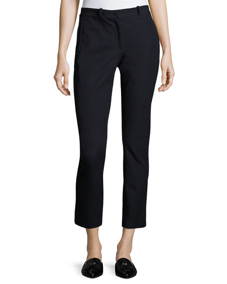 Joseph New Elliston Stretch-Gabardine Skinny Ankle Pants and