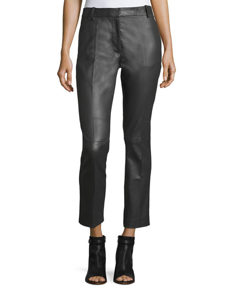 Joseph Zoom Stretch-Leather Trousers
