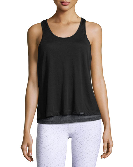 Koral Activewear Shift Split-Back Sleeveless Top