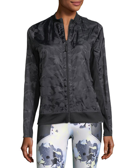 Volume Tonal-Print Jacket