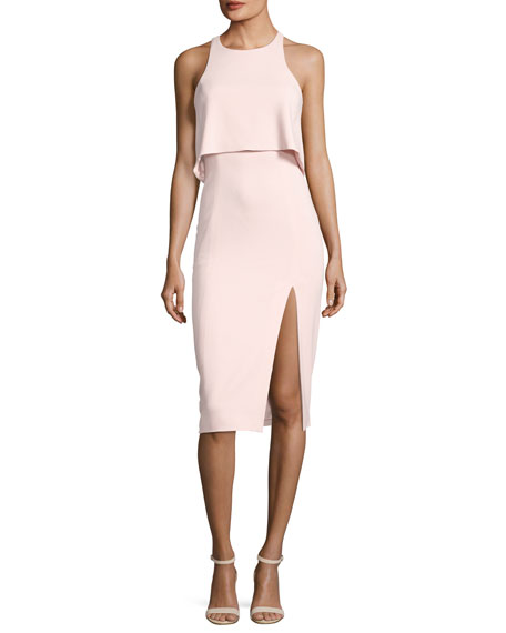 Jay Godfrey Charles Sleeveless Popover Cocktail Sheath Dress