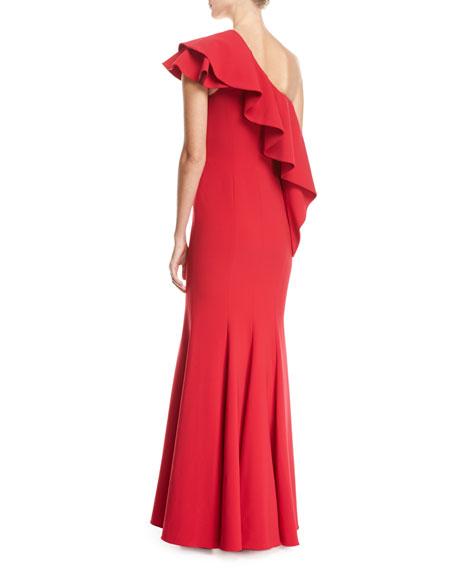 Taj One-Shoulder Mermaid Gown, Red