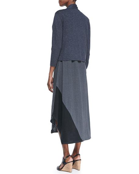 Sleeveless Colorblock V-Neck Jersey Dress, Petite