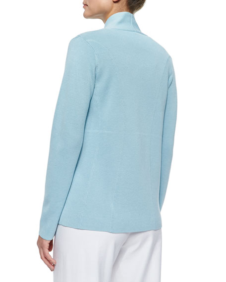 Silk Cotton Interlock Jacket, Capri, Petite