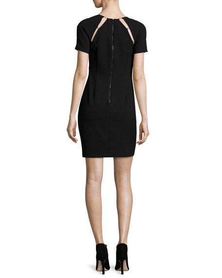 Kristiana Fitted Sheath Dress W/ Inserts