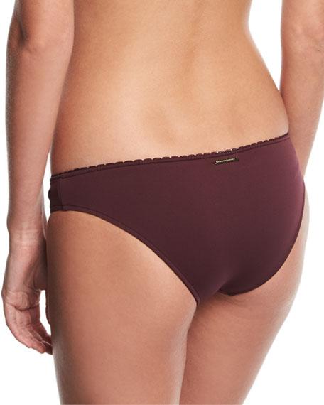 Classic Bikini Swim Bikini Bottom w/ Embroidery