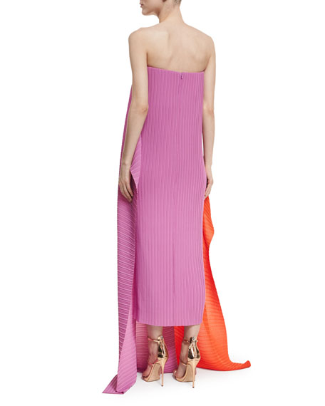 Alette Strapless Textured Maxi Dress