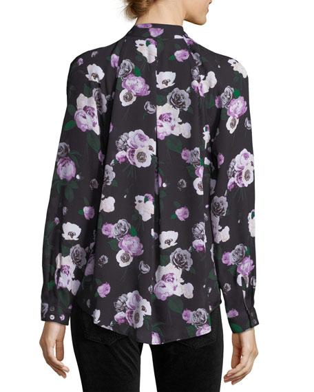 Liana Floral-Printed Silk Blouse