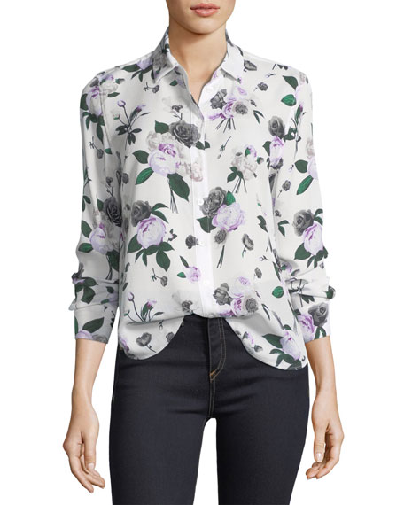Countdown Package Genuine Cheap Online Blue floral patterned blouse Equipment Wide Range Of Sale Online Discount 2018 New fesbCZGcmU
