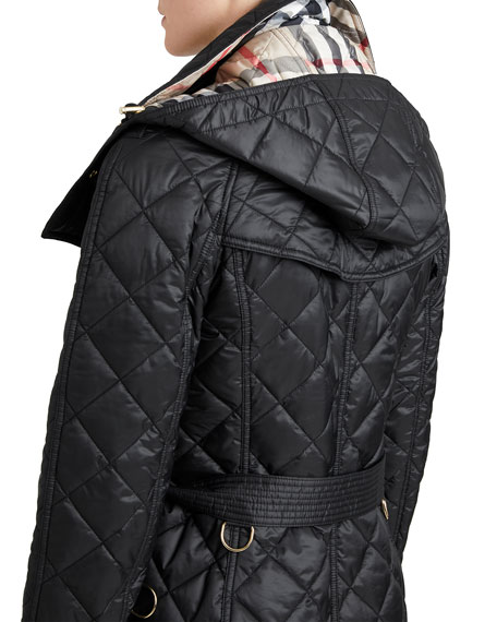 Burberry Baughton Quilted Belted Parka Jacket, Black | Neiman Marcus : burberry quilted belted jacket - Adamdwight.com