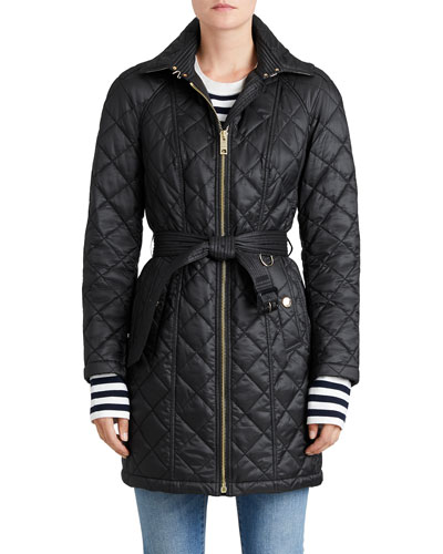 Women's Coats : Puffer Coats & Hooded Raincoats at Neiman Marcus : burberry quilted belted jacket - Adamdwight.com
