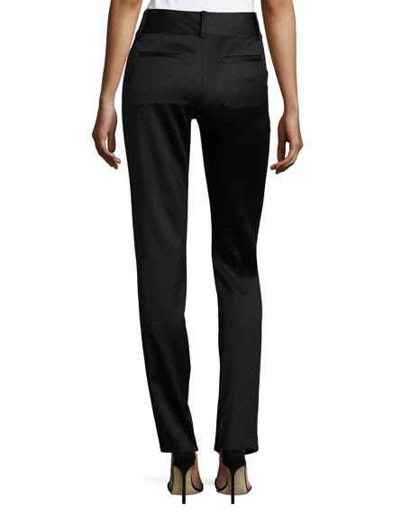 Cadence Zip-Hem Straight-Leg Trousers