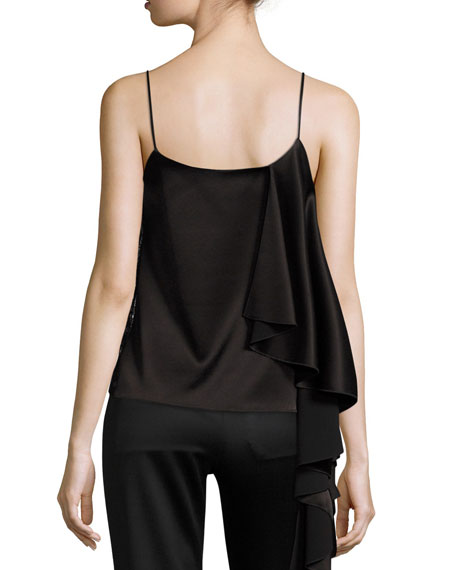 Lelah Side-Drape Camisole Top