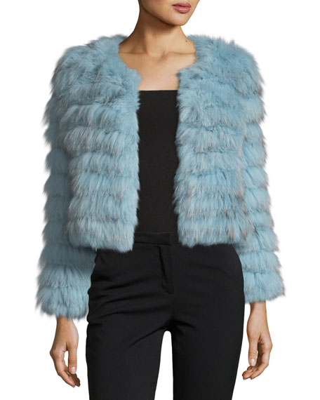 Alice + Olivia Fawn Fox Rabbit Fur Cropped